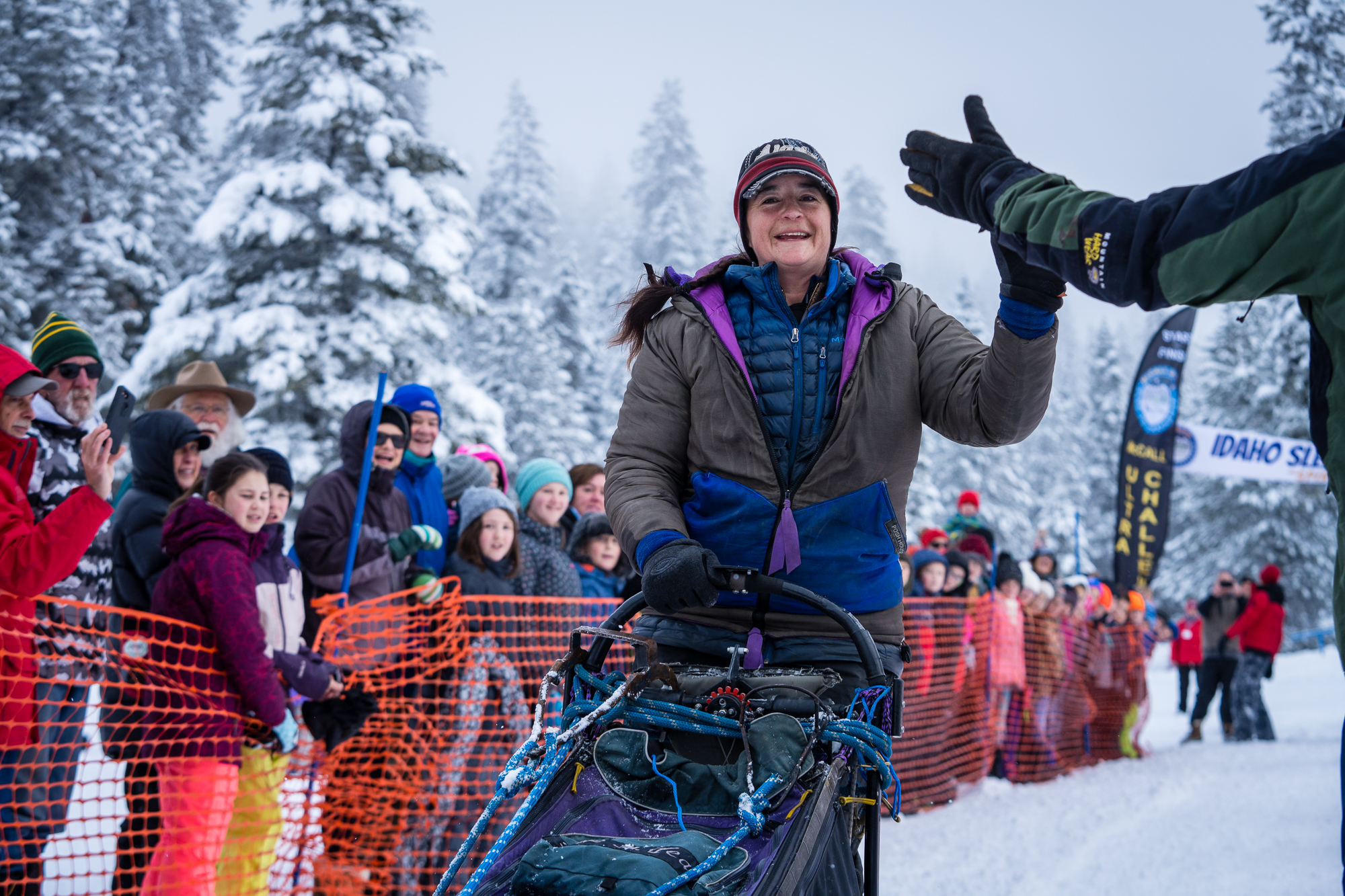 Jessie Royer at the start of the 300 mile ISDC